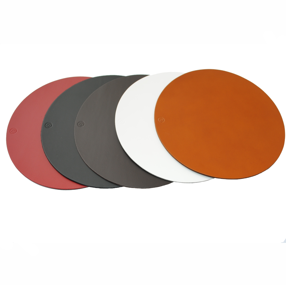 Real Leather Hide ROUND Placemats