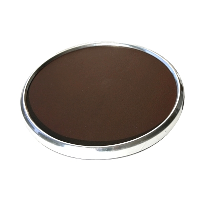 Set of 4 Chocolate Brown 4 Dia Coasters + Gift Box